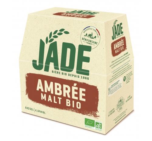 Пиво напівтемне органічне Jade Ambrée, упаковка 6x250 мл