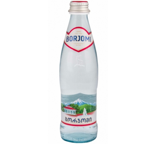 Вода мінеральна Боржомі сильногазована (скло), 0,33 л