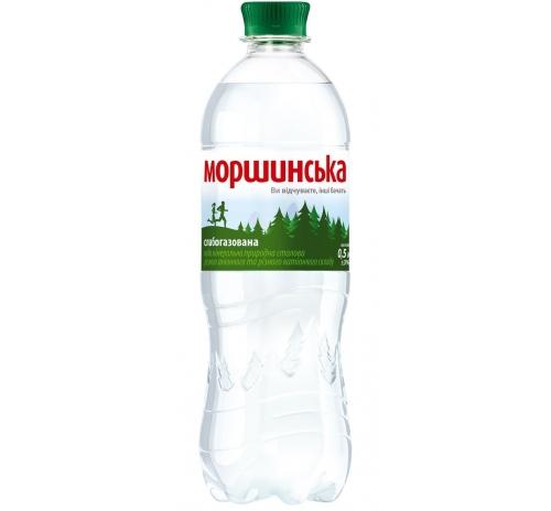Вода мінеральна Моршинська слабогазована, 0,5 л