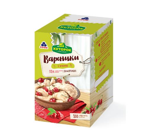 """Заморожені напівфабрикати """"Вареники з вишнею"""" Рудь Хуторок, 500 г"""