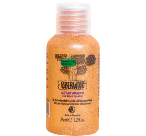 Шампунь відновлюючий Überwood для нормального та пошкодженого волосся, міні-формат, 35 мл