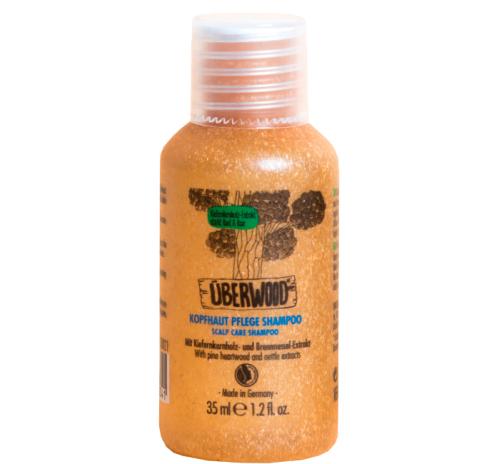Шампунь для догляду за шкірою голови Überwood для чутливої шкіри, міні-формат, 35 мл