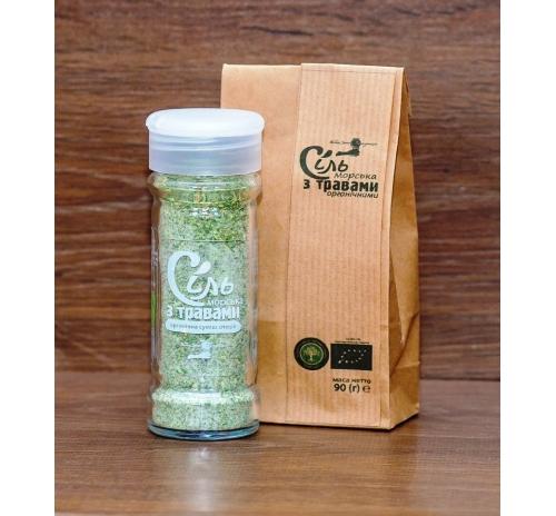 Сіль морська з органічними травами (пакет) Потутори, 90 г