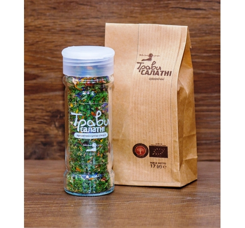 "Суміш спецій ""Трави салатні"" органічна Потутори (пакет), 17 г"