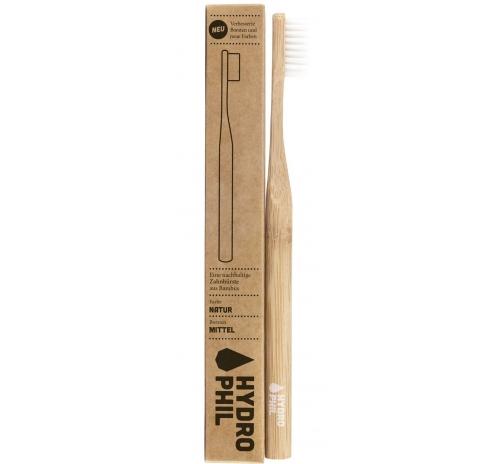 Щітка зубна бамбукова антибактеріальна Hydrophil середньої жорсткості, натуральна