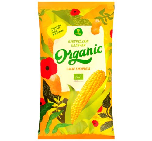 Палички кукурудзяні органічні Тільки кукурудза Екород, не солодкі, 50 г