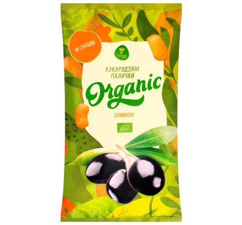 Палички кукурудзяні органічні Оливкові Екород, 50 г
