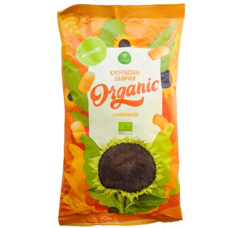 Палички кукурудзяні Соняшникові Екород, солодкі, 70 г