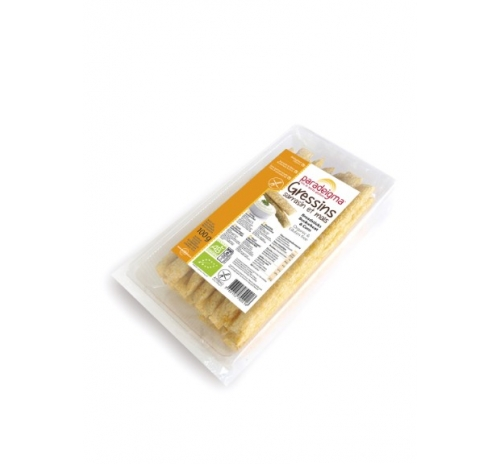 Хлібні палички з гречаного та кукурудзяного борошна Paradeigma органічні, 100 г