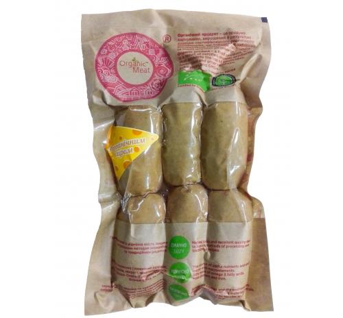 Сардельки з сиром органічні вищого сорту Organic Meat, кг
