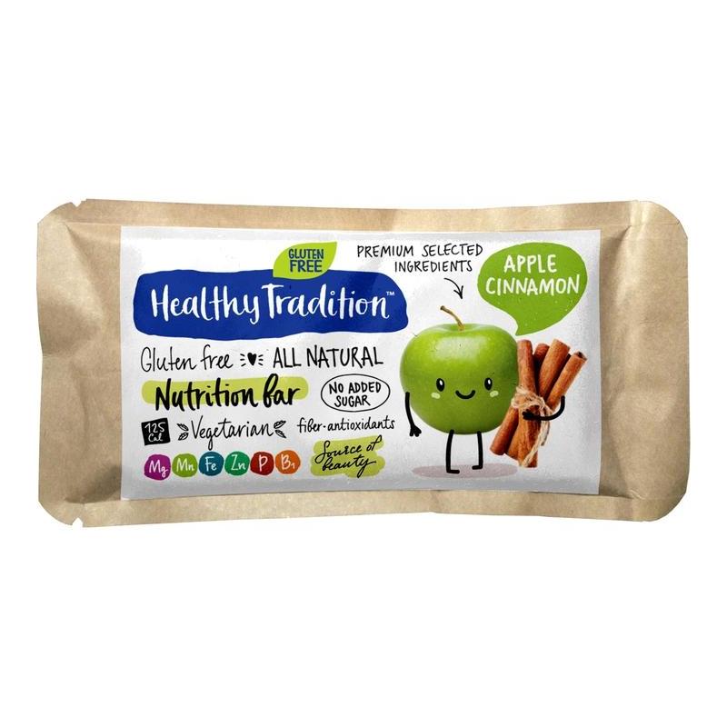 """Поживний батончик """"Яблуко-кориця"""" без глютену Healthy Tradition, 34 г"""