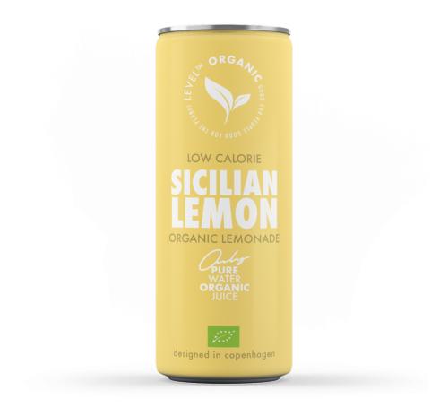 Напій газований органічний із соком лимона Level Organic Sicilian Lemon Organic Lemonade, 250 мл
