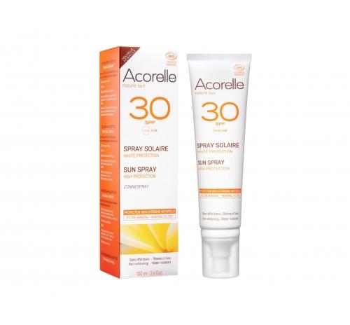 Спрей сонцезахисний SPF 30 органічний Acorelle, 100 мл