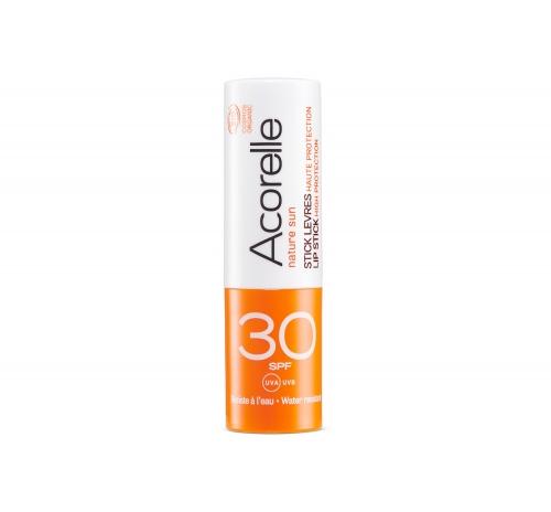 Бальзам для губ сонцезахисний SPF 30 органічний Acorelle, 4 г