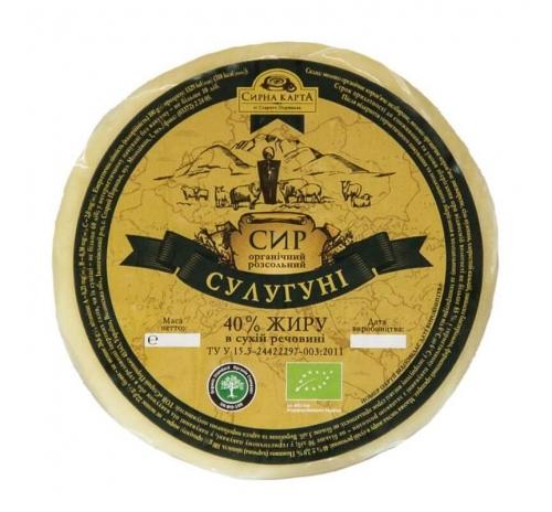 """Сир розсільний """"Сулугуні"""" органічний Старий Порицьк, кг"""