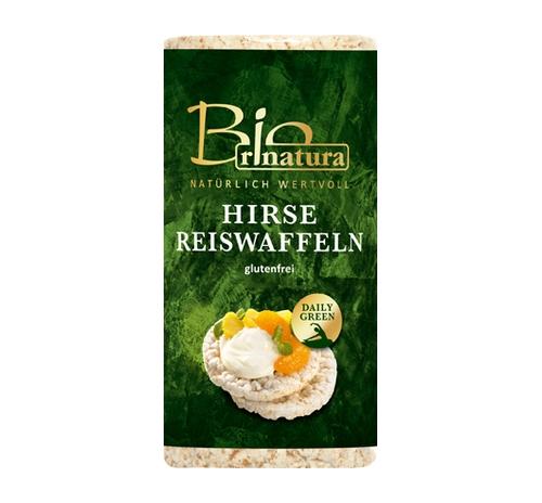 Рисові хлібці з пшоном Rinatura органічні, 100 г