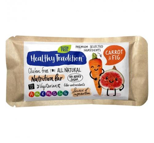 "Поживний батончик ""Морква-інжир"" без глютену Healthy Tradition, 34 г"