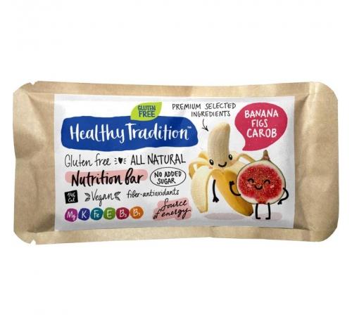 Healthy Tradition Gluten-Free Nutrition Bar Banana, Figs & Carob