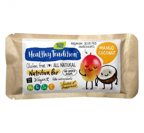 Healthy Tradition Gluten-Free Nutrition Bar Mango & Coconut, 34 g