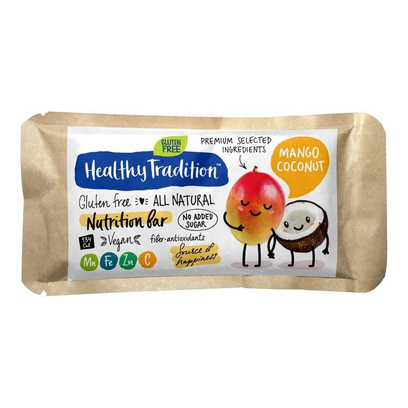 "Поживний батончик ""Манго-кокос"" без глютену Healthy Tradition, 34 г"