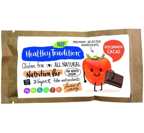 Healthy Tradition Gluten-Free Nutrition Bar Persimmon & Cocoa, 34 g