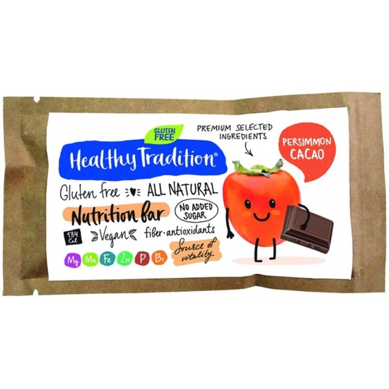 """Поживний батончик """"Хурма-какао"""" без глютену Healthy Tradition, 34 г"""