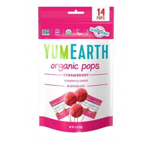 Льодяники на паличці зі смаком полуниці 87г органічні YumEarth