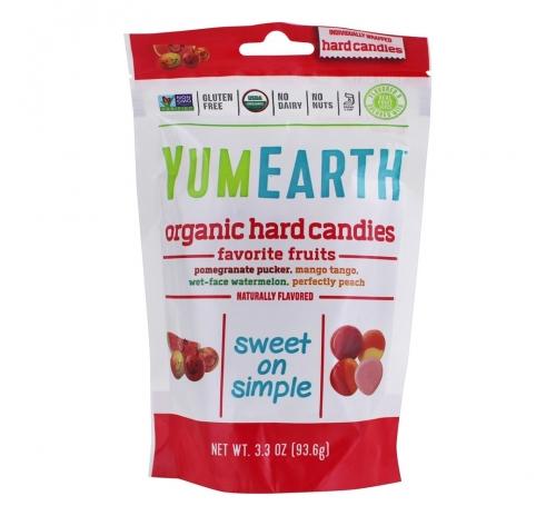 Льодяники освіжаюче-фруктові 93,6г органічні YumEarth