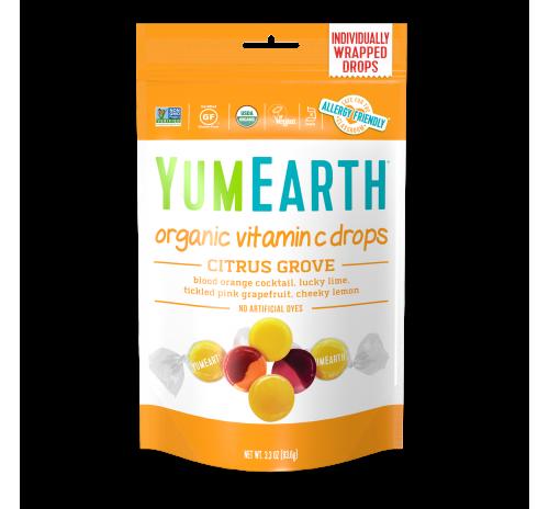 Льодяники  з вітаміном С цитрусова роща  93,55г органічні YumEarth