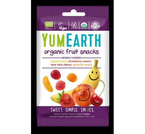 Цукерки YumEarth жувальні фруктові  50 г органічні
