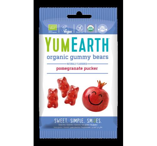 Цукерки YumEarth жувальні ведмедики гранат 50 г органічні