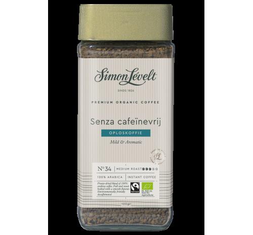 Кава розчинна без кофеїну Senza Simon Lévelt органічна, 100 г